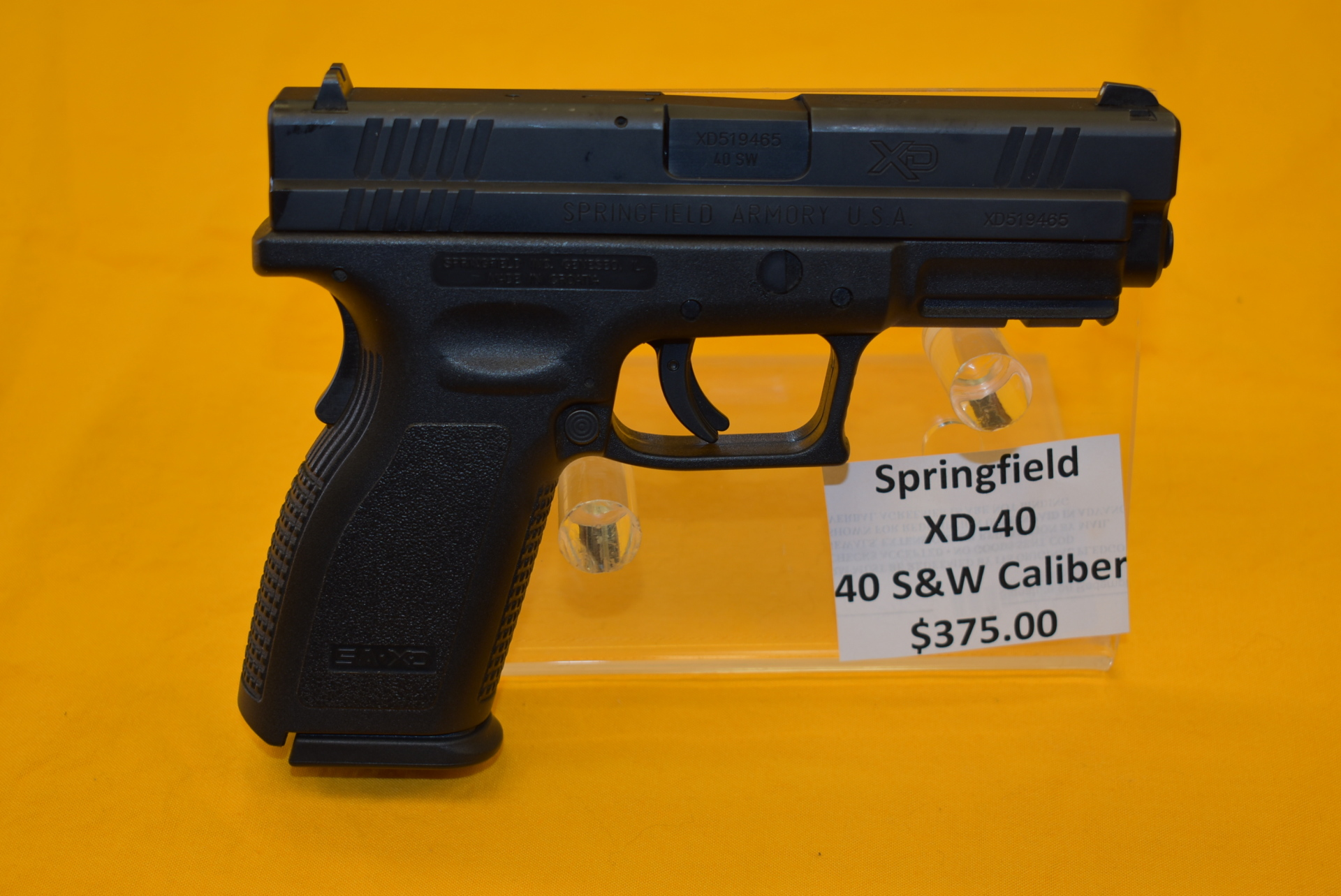 Springfied XD 40 40 S&W caliber