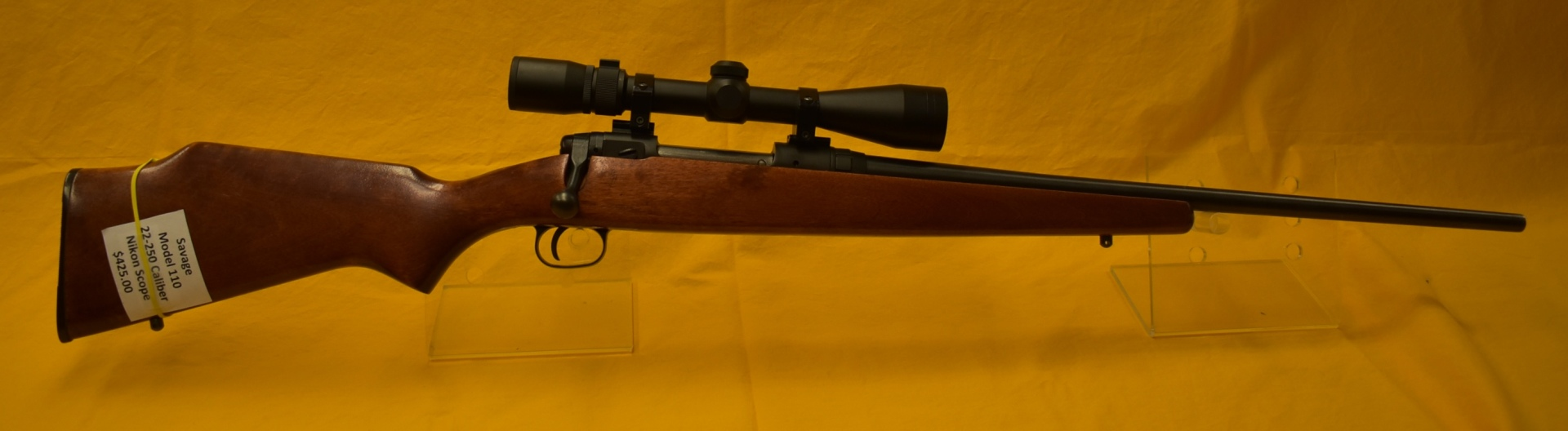 Savage 22-250 with Nikon Scope