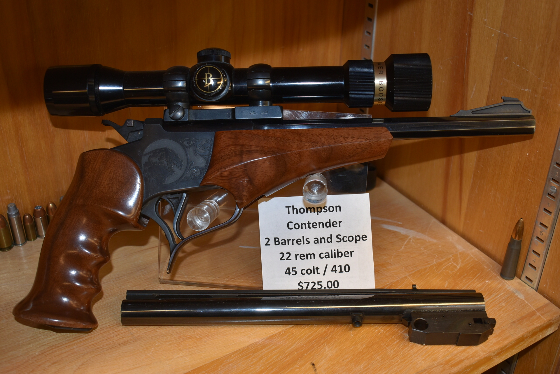 Thompson Contender 2 Barrels, Scope